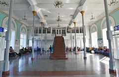 Stock Photo of GRJAZI, RUSSIA - 28.08,2015. Train Station - a major railway hub in the South