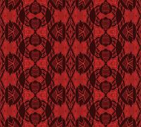 Seamless ornaments red brown - stock illustration