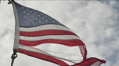 America ripped flag. - stock footage