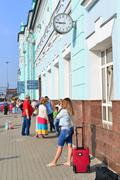 GRJAZI, RUSSIA - 28.08,2015. Train Station - a major railway hub in the South - stock photo