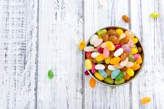 Colorfull Jelly Beans Stock Photos