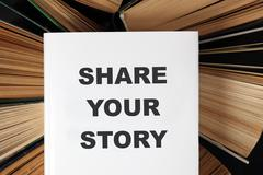 Share your story book - stock photo