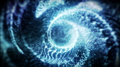 Movement in the center of the spiral. The slow movement of the particles. - stock footage