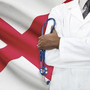 Concept of national healthcare system - Alabama - stock photo