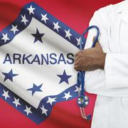 Concept of national healthcare system - Arkansas - stock photo