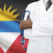 Concept of national healthcare system - Antigua and Barbuda - stock photo