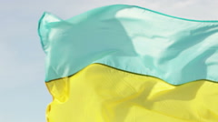 Ukrainian flag Stock Footage
