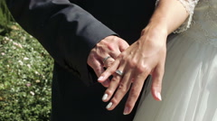 Hands newlyweds with rings Stock Footage