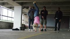 4K Female breakdancer shows her moves, shot on RED EPIC DRAGON - stock footage