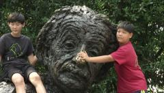 Albert Einstein Memorial Stock Footage
