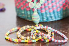 Beaded bracelets Stock Photos