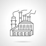 Paper and pulp factory line vector icon Stock Illustration