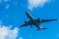 Stock Photo of American  Airlines Airbus 330 N280AY landing on runway 25R