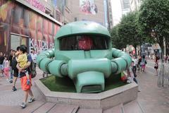 Stock Photo of a big green Zaku head