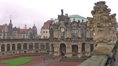Dresden Zwinger time lapse Stock Footage