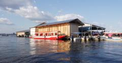 Floating houses in Manaus, Amazon, Brazil Stock Footage
