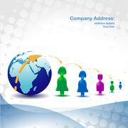 global network - stock illustration