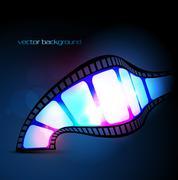 vector reel - stock illustration