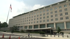 U.S. State Department Building Stock Footage