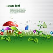 Nature background Stock Illustration