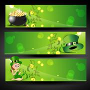 st. patricks day background - stock illustration