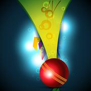 cricket ball - stock illustration