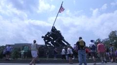 Stock Video Footage of Marine Corp War Memorial