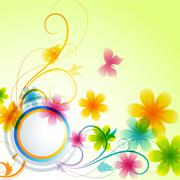 Stock Illustration of flower background