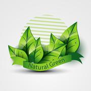 natural green - stock illustration