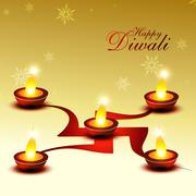 diwali festival - stock illustration