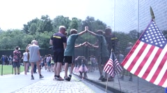 Vietnam Veterans Memorial Wall - stock footage