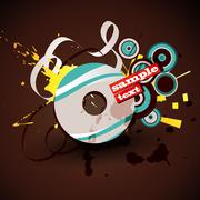 Abstract cd Stock Illustration