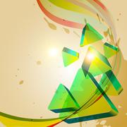 vector abstract shape - stock illustration
