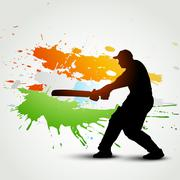 Cricket background Stock Illustration