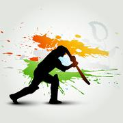cricket background - stock illustration