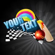 Stock Illustration of cricket theme background