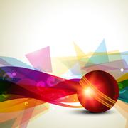 Abstract cricket background Stock Illustration