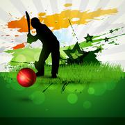 cricket vector background - stock illustration