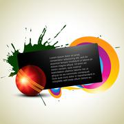 Cricket background Stock Illustration