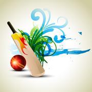 Vector cricket background Stock Illustration