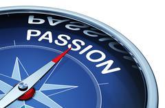 passion compass - stock illustration