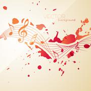 abstract style music notes - stock illustration