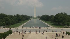 Lincoln Memorial Reflecting Pool - stock footage