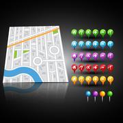 Abstract city map illustration Stock Illustration
