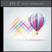 colorful parachute - stock illustration