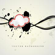 Vector cloud shape vector Stock Illustration