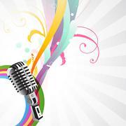 stylish mic background - stock illustration