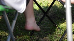 One big foot and other small Stock Footage