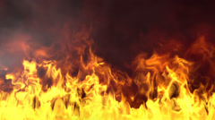 Realistic fire and smoke. Seamless  loop - stock footage