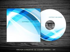 Stock Illustration of cd cover design